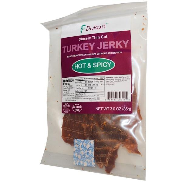 Dukan Diet, Turkey Jerky, Hot & Spicy, 3.0 oz (85 g) (Discontinued Item)