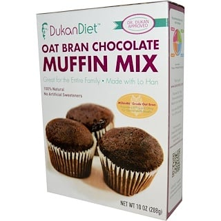 Dukan Diet, Oat Bran Chocolate Muffin Mix, 10 oz (288 g)