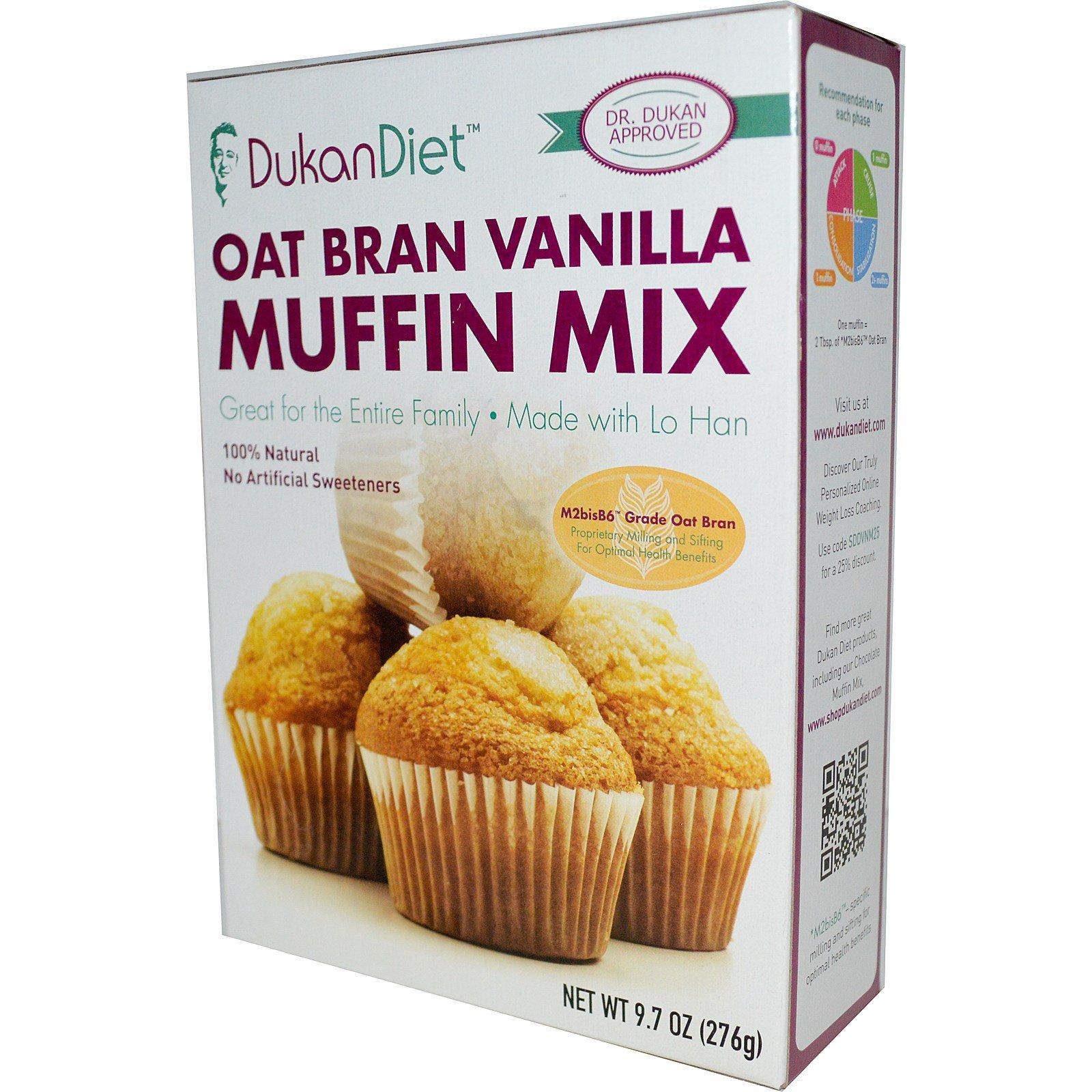 Dukan Diet, Смесь для ванильного маффина с овсяными отрубями, 276 г (9,7 унций)