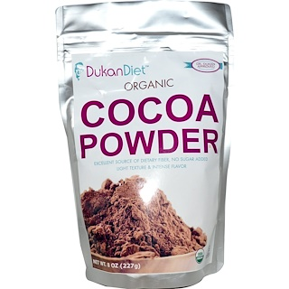 Dukan Diet, オーガニック ココアパウダー,   8 オンス (227 g)