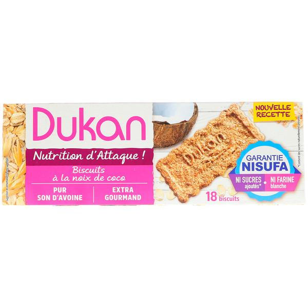 Dukan Diet, Oat Bran Cookies, Coconut, 6 Packets, 3 Cookies (37.5 g) Each (Discontinued Item)