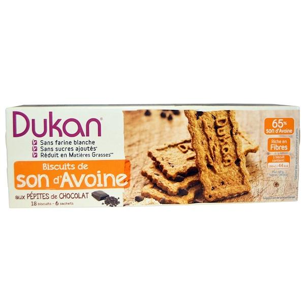 Dukan Diet, Oat Bran Cookies, Chocolate Chip, 6 Packets, 3 Cookies (37 g) Each