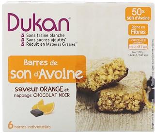 Dukan Diet, Oat Bran Orange Chocolate Bars, 5.28 oz (6 bars)