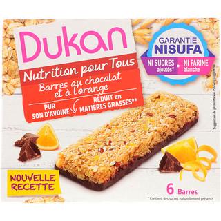 Dukan Diet, Oat Bran Orange Chocolate Bars, 6 Bars, (25 g) Each