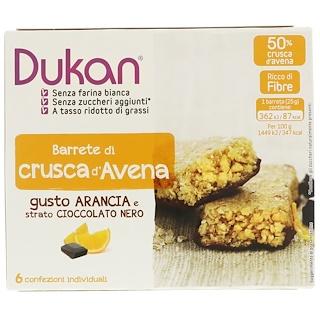 Dukan Diet, Barras de chocolate naranja y salvado de avena, 6 barras, (25 g) c/u