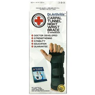 Doctor Arthritis, Carpal Tunnel, Night Wrist Brace, Left, 1 Brace