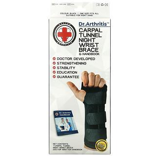 Doctor Arthritis, Carpal Tunnel, Night Wrist Brace, Right, 1 Brace