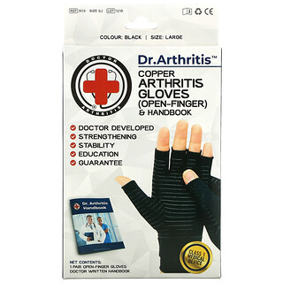 Doctor Arthritis, Copper, Arthritis Gloves, Large, 1 Pair