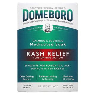 Domeboro, Medicated Soak, Rash Relief, 12 Powder Packets, 0.1 oz (2.7 g) Each