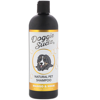 Doggie Sudz, Natural Pet Shampoo, Mango & Neem, 16 fl oz (474 ml)