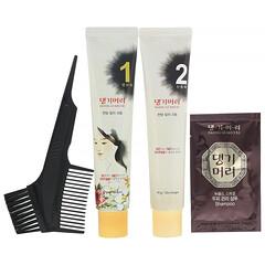 Doori Cosmetics, 康綺墨麗,專用植物染髮劑,黑色,1 套