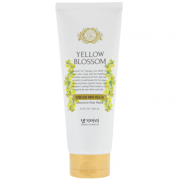"Doori Cosmetics, Yellow Blossom, מסיכה אינטנסיבית לשיער, משקל 200 מ""ל (6.7 אונקיות נוזל) (Discontinued Item)"