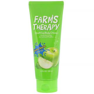 Doori Cosmetics, Farms Therapy,闪亮身体乳霜,青苹果,6.7 液量盎司(200 毫升)