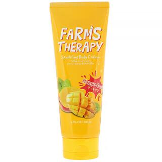 Doori Cosmetics, Farms Therapy,闪亮身体乳霜,芒果冲击,6.7 液量盎司(200 毫升)