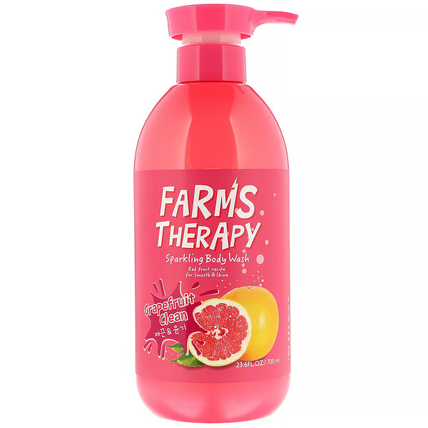 Farms Therapy, Sparkling Body Wash, Grapefruit Clean, 23.6 fl oz (700 ml)