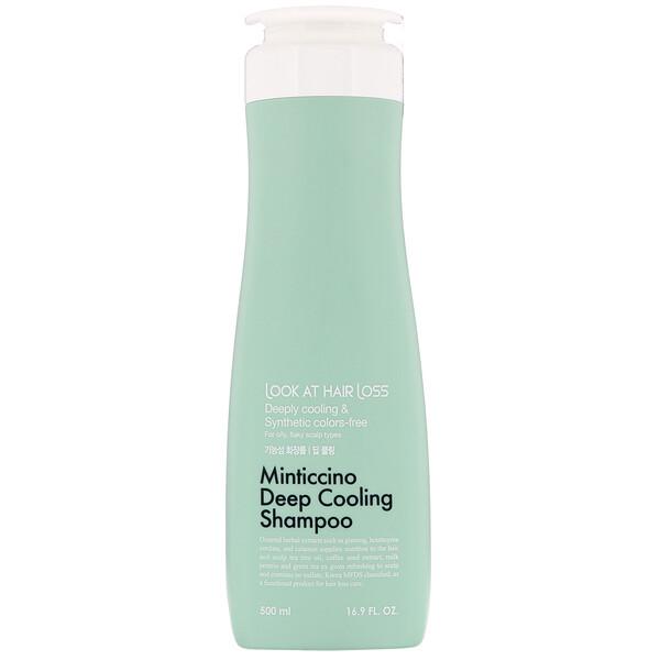 Look At Hair Loss, Minticcino Deep Cooling Shampoo, 16.9 fl oz (500 ml)