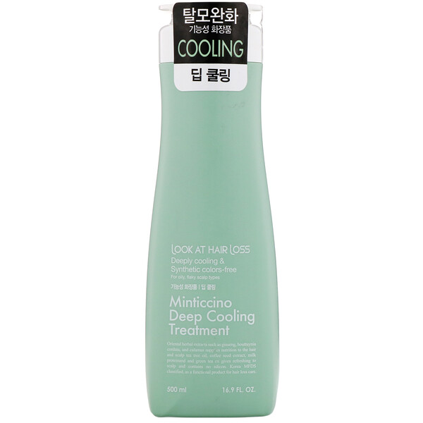 Look At Hair Loss, Minticcino Deep Cooling Treatment, 16.9 fl oz (500 ml)