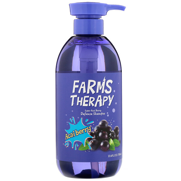 Farms Therapy, Defense Shampoo, Acai Berry, 23.6 fl oz (700 ml)