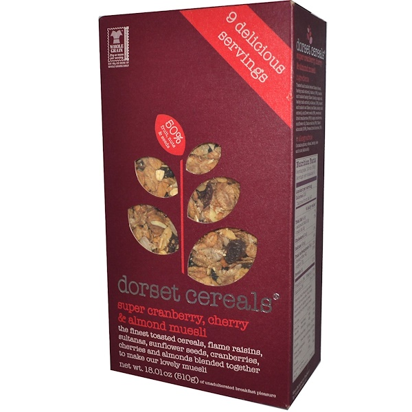 Dorset Cereals, Super Cranberry, Cherry & Almond Muesli, 18.01 oz (510 g) (Discontinued Item)