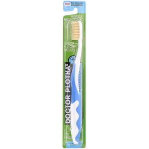 Dr. Plotka, MouthWatchers, Adult, Naturally Antimicrobial Toothbrush, Soft, Blue, 1 Toothbrush отзывы покупателей