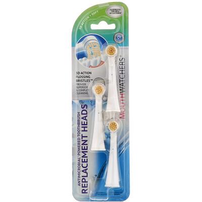 Купить Dr. Plotka MouthWatchers, сменные головки для противомикробной вращающейся зубной щетки, упаковка из 3 штук