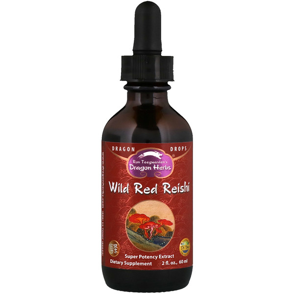 Dragon Herbs, Wild Red Reishi, Super Potency Extract, 2 fl oz (60 ml)