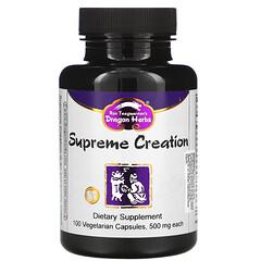 Dragon Herbs, Supreme Creation,500 毫克,100 粒素食膠囊
