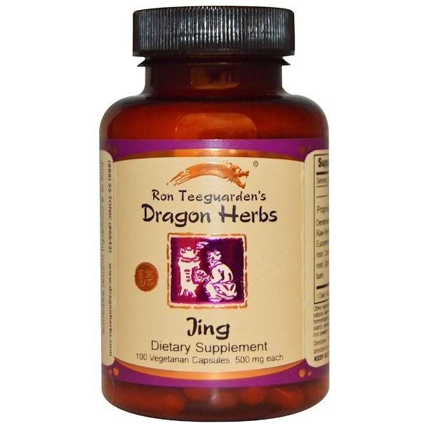 Dragon Herbs, Jing, 500 мг, 100 растительных капсул