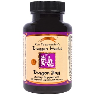 Dragon Herbs, Dragon Jing, 500 мг, 100 вегетарианских капсул