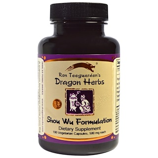 Dragon Herbs, Shou Wu Formulation, 500 mg, 100 Veggie Caps