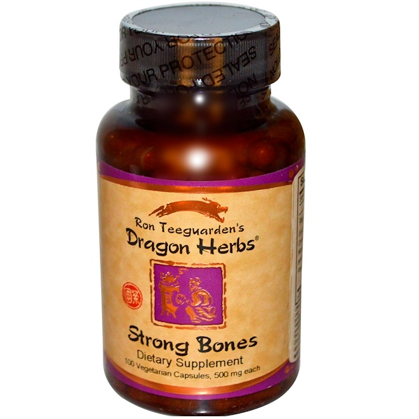 Dragon Herbs, Strong Bones, 500 mg, 100  Vegetarian Capsules