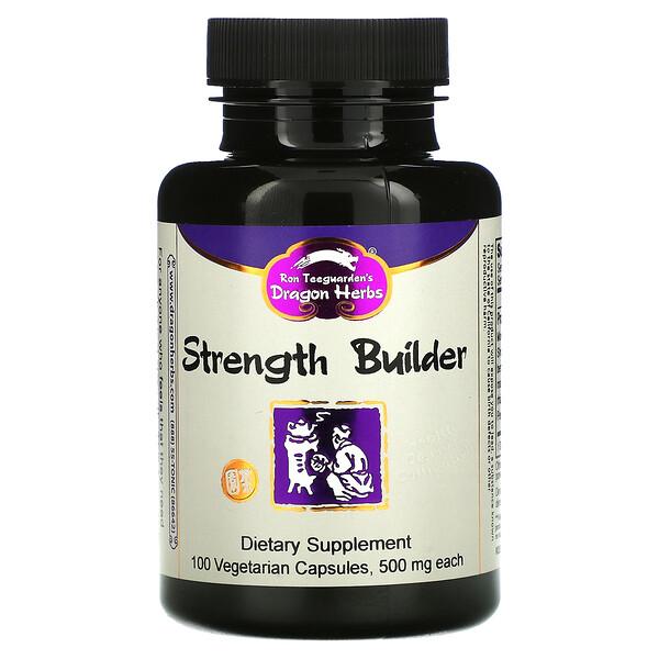 Dragon Herbs, Strength Builder, 500 mg, 100 Vegetarian Capsules