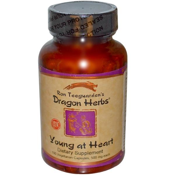 Dragon Herbs, Молодость в сердце, 500 мг, 100 растительных капсул (Discontinued Item)