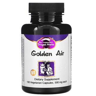 Dragon Herbs, Golden Air 潤肺,500毫克,100 粒素食膠囊