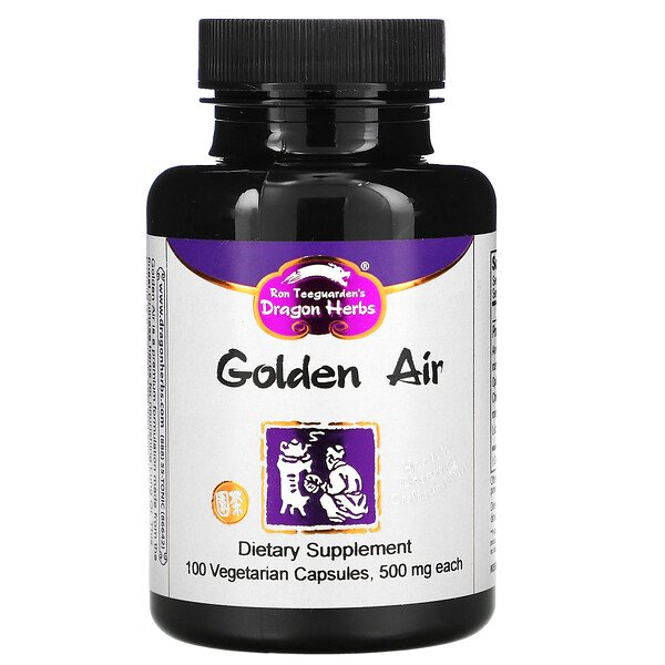 Dragon Herbs, Golden Air, 500 mg, 100 Vegetarian Capsules