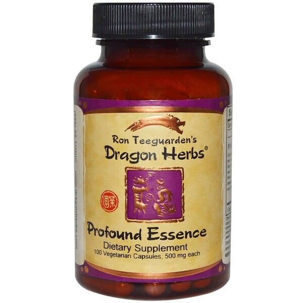 Dragon Herbs, Esencia Profunda, 500 mg, 100 Cápsulas Veganas