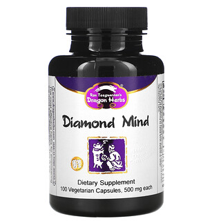 Dragon Herbs, Diamond Mind, 500 mg, 100 Vegetarian Capsules