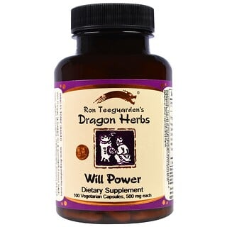 Dragon Herbs, Will Power, 500 mg, 100 Veggie Caps