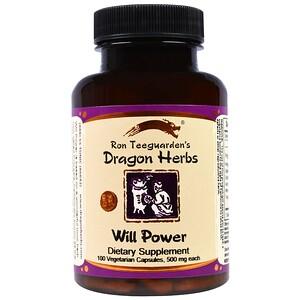 Драгон Хербс, Will Power, 500 mg, 100 Veggie Caps отзывы покупателей