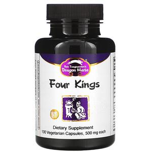 Драгон Хербс, Four Kings, 500 mg Each, 100 Veggie Caps отзывы