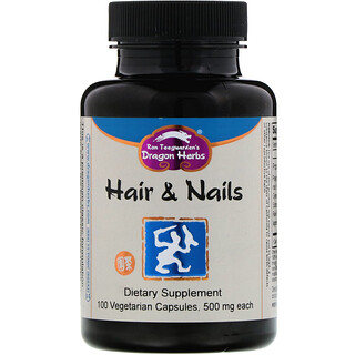 Dragon Herbs, Hair & Nails, 500 mg, 100 Vegetarian Capsules