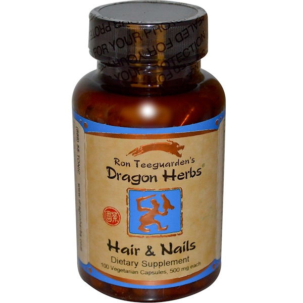 Dragon Herbs, Hair & Nails, 500 mg, 100 Veggie Caps