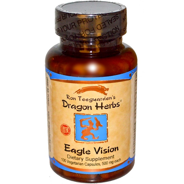Dragon Herbs, 眼疲勞緩解膠囊,500毫克,100粒