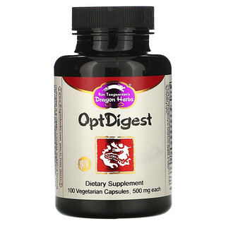 Dragon Herbs, OptDigest,500 毫克,100 粒素食膠囊