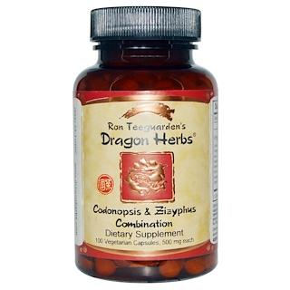 Dragon Herbs, Codonopsis & Zizyphus Combination, 500 mg, 100 Veggie Caps