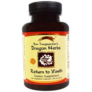 Dragon Herbs, Return to Youth, 500 mg, 100 Veggie Caps