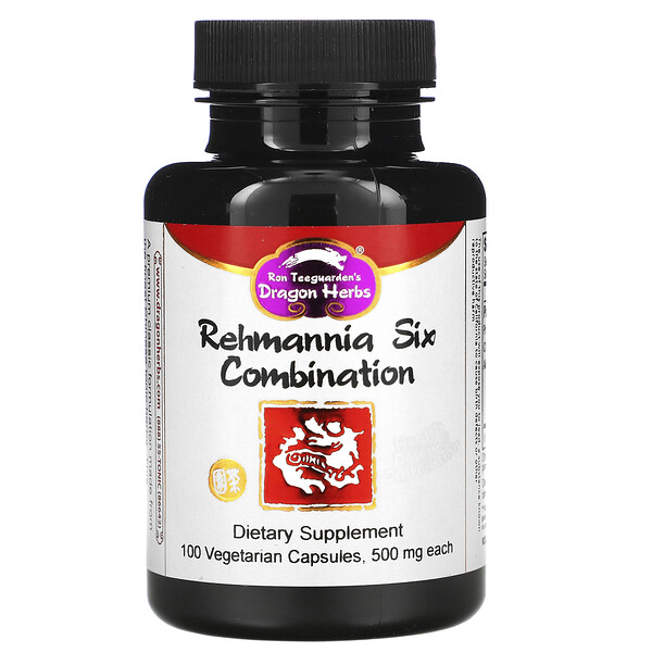 Rehmannia Six Combination, 500 mg, 100 Veggie Caps