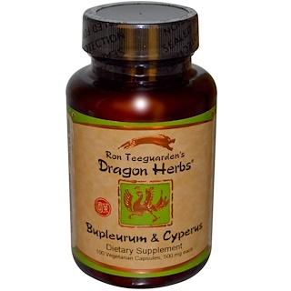 """Dragon Herbs, """"Bupleurum und Cyperus, 500 mg, 100 Vegetarische Kapseln"""""""