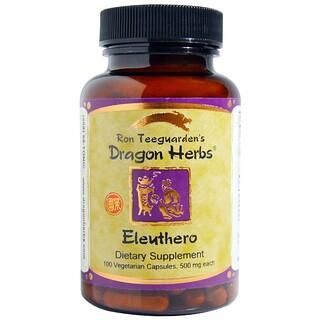 Dragon Herbs, Eleuthero, 500 mg, 100 Veggie Caps