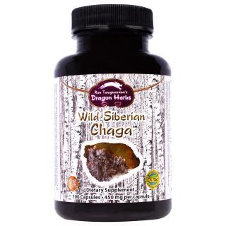Dragon Herbs, Wild Siberian Chaga, 350 mg, 100 Capsules